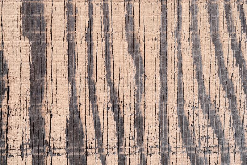 Old plywood with faded paint stock image