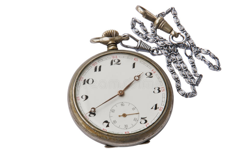 Antique pocket watch isolated royalty free stock photo