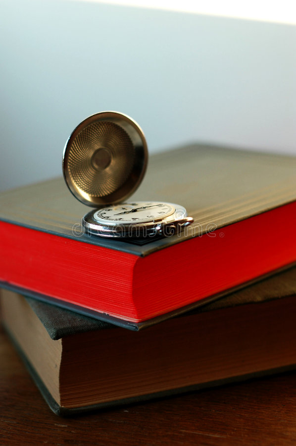 Download Old Pocket Watch On The Book Stock Image - Image: 2838137