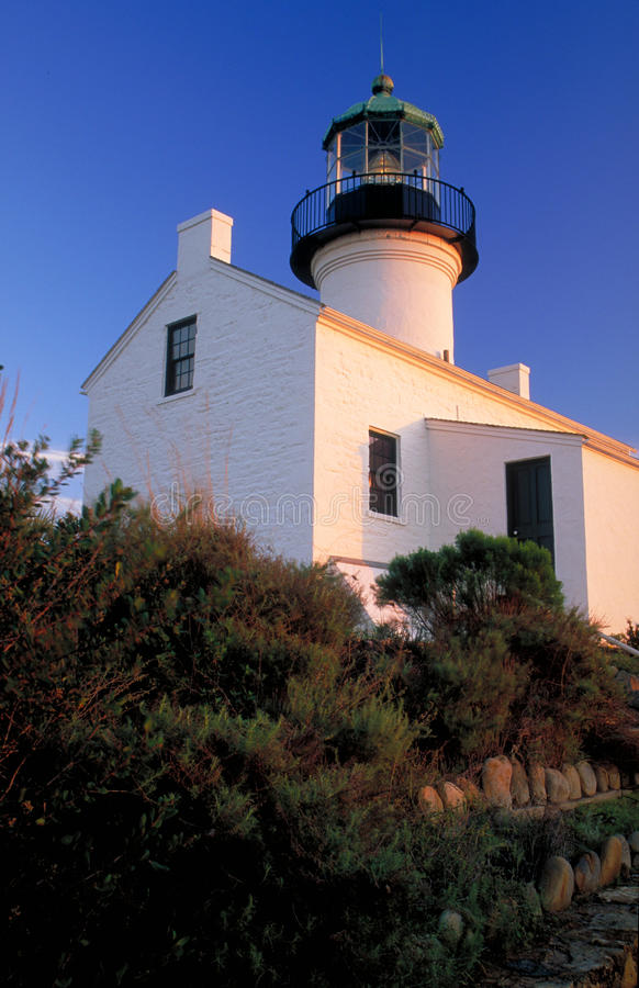 Old Point Loma Lighthouse, Vertical royalty free stock photography