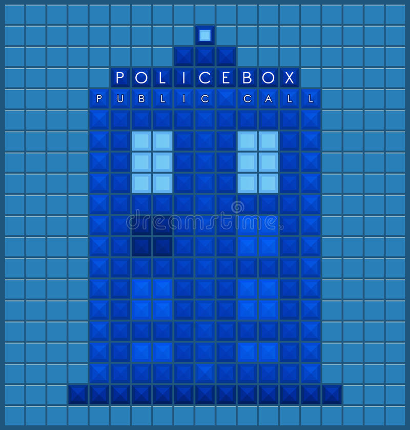 Old police box stock vector. Illustration of game, british - 65974388