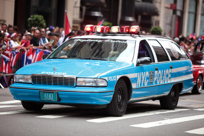 Old Police Car In New York City Editorial Image