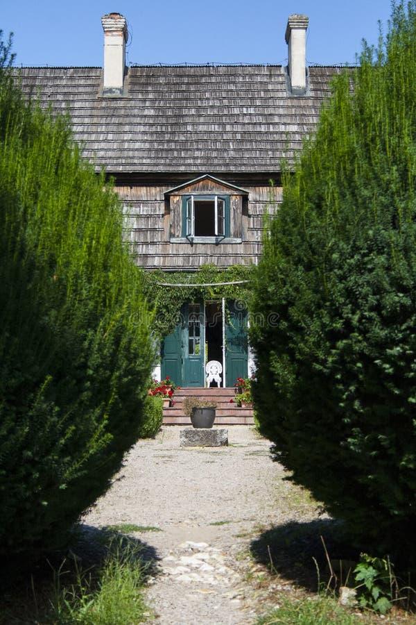 Old polish manor house stock photos