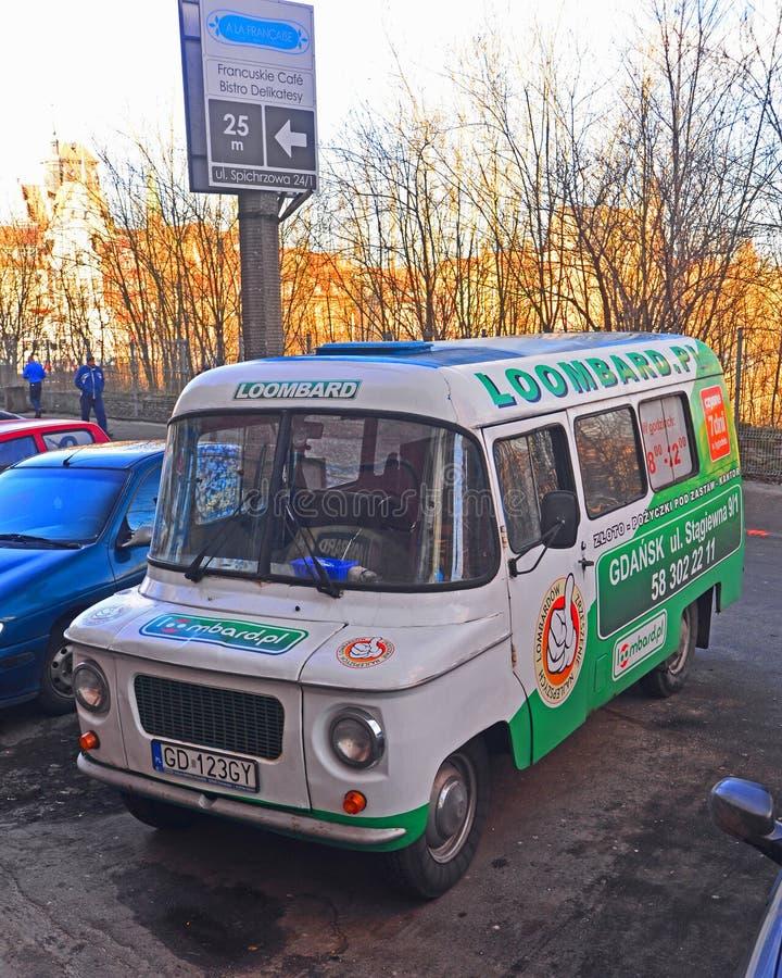 Old Polish van Nysa s'est garé à Danzig, Pologne photos stock