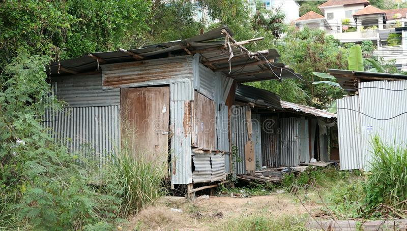 Old poor houses stock images