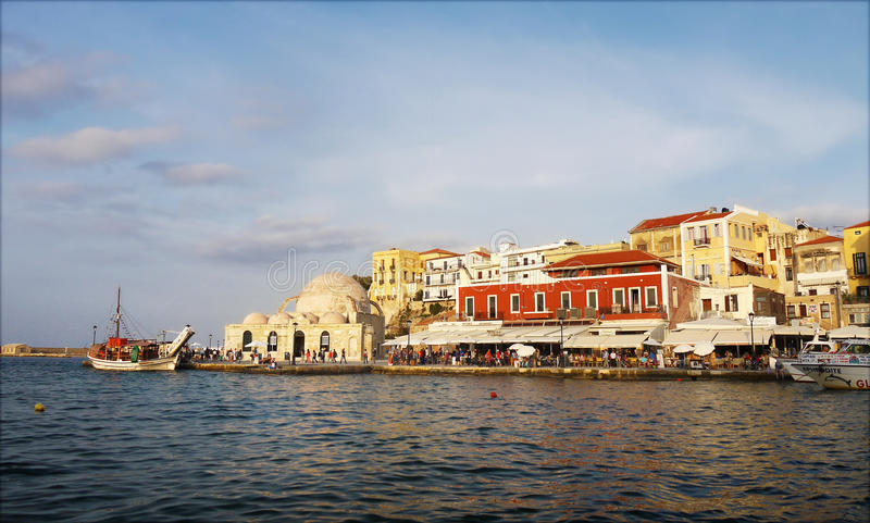 Old Port in Chania Town, Crete stock photos