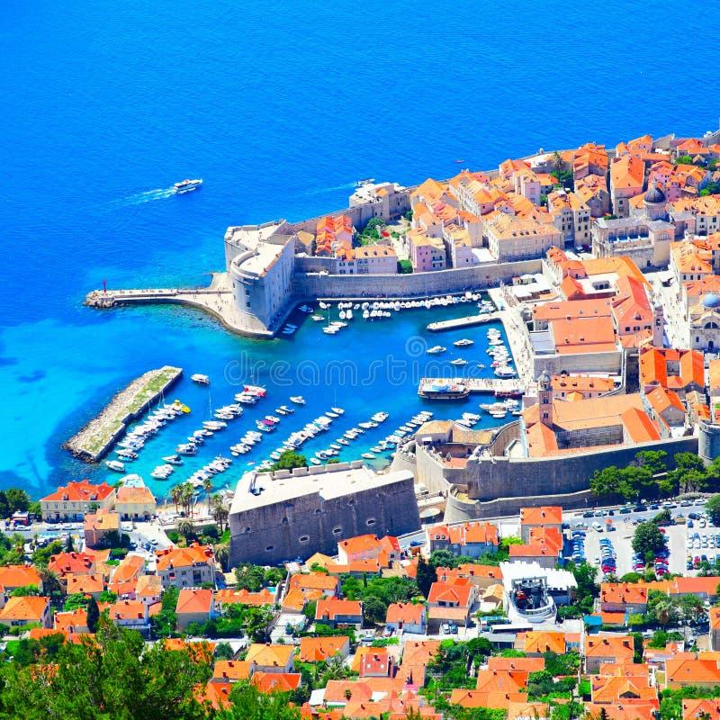 Old port in Dubrovnik. Croatia stock image