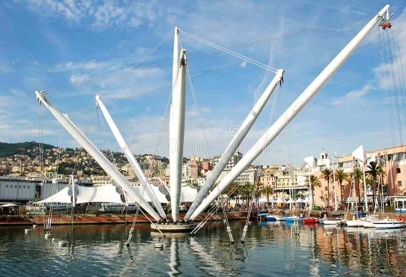 Download Old Port of Genoa stock image. Image of palm, cityscape - 40508187