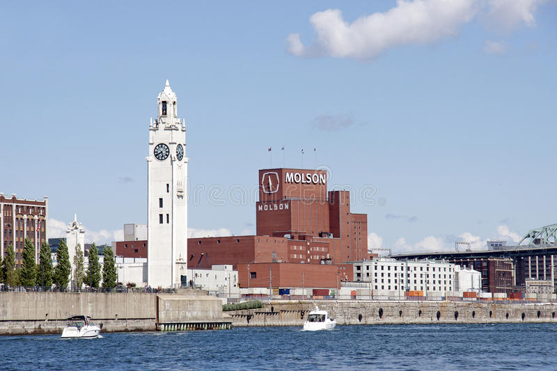 Download The Old Port Of Montreal - Molson Brewery Editorial Photography - Image of clock, attractions: 26363817