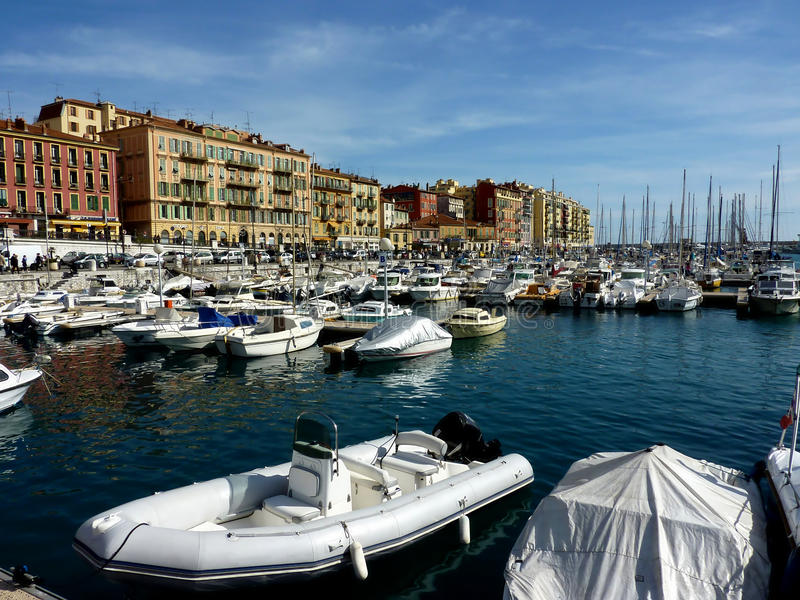Old port of Nice royalty free stock photo