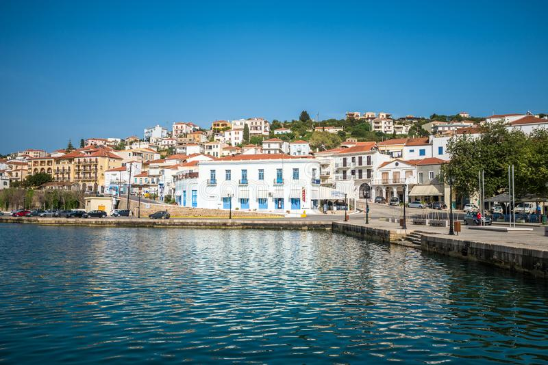 Old port of Pylos town in Messenia, Peloponnese, Greece royalty free stock photo