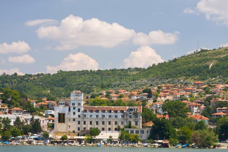 Old port quay in Balchik. The town of Balchik on the Black sea coast, Bulgaria stock photography