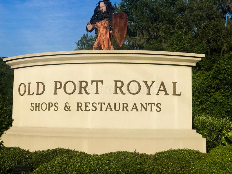 Old Port Royal Shops & Restaurants royalty free stock images