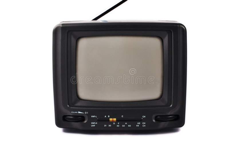 Old portable TV set royalty free stock image