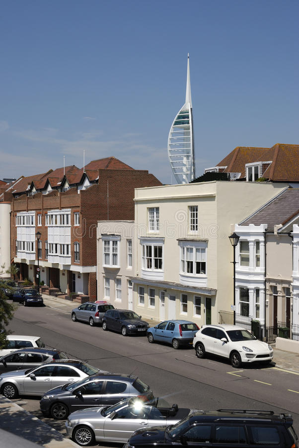 Download Old Portsmouth And Spinnaker Tower Stock Image - Image: 21050513