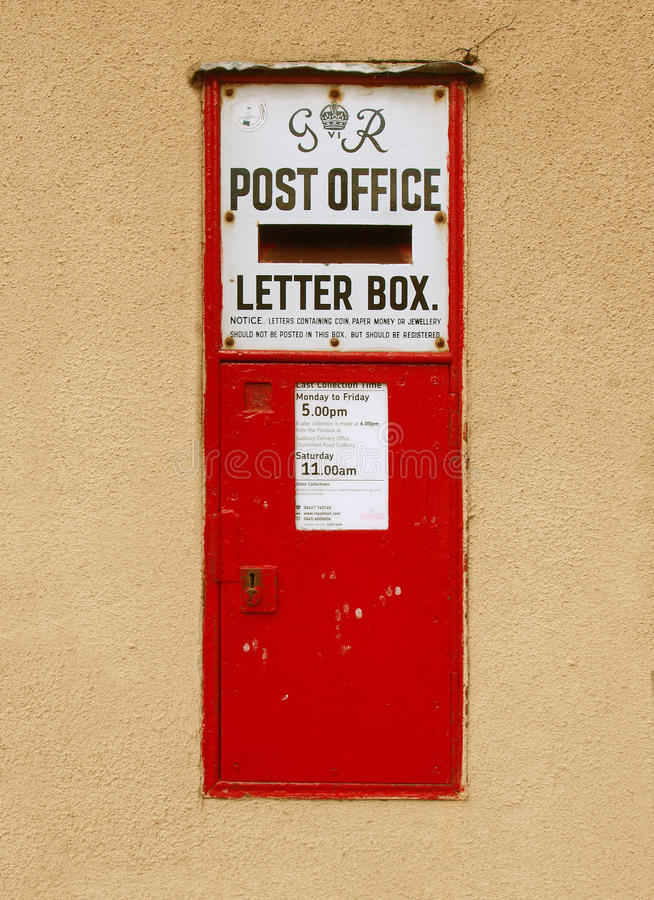 Old Post Box Editorial Stock Photo