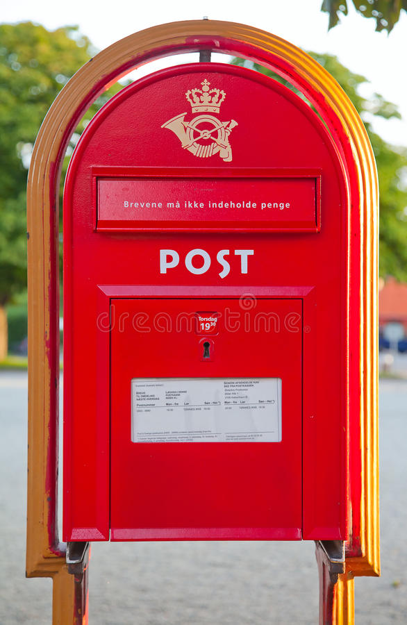 Old post box stock photography