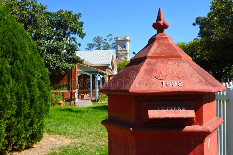 Old post box in Guildford Western Australia. An old post box in Guildford near Perth, Western Australia royalty free stock photography