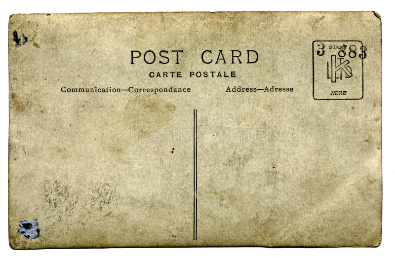 Old post card royalty free stock photography