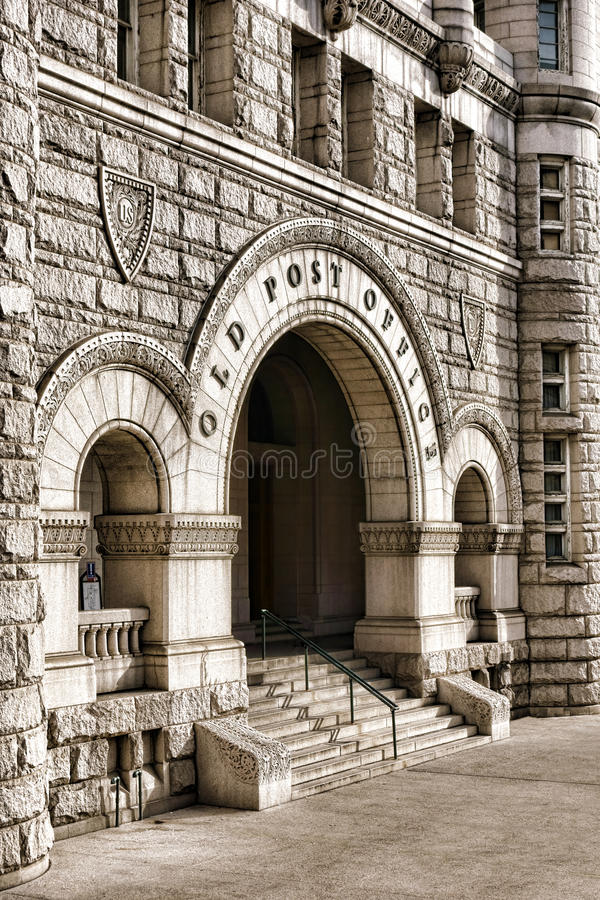 The Old Post Office Pavilion in Washington DC stock photo