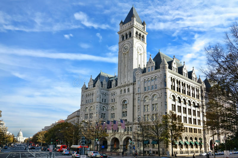 The Old Post Office Pavilion in Washington DC royalty free stock photography