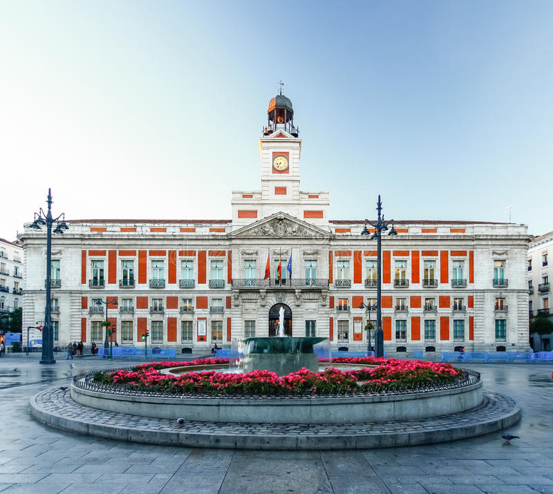 The Old Post Office At Puerta Del Sol Km 0 Madrid Spain