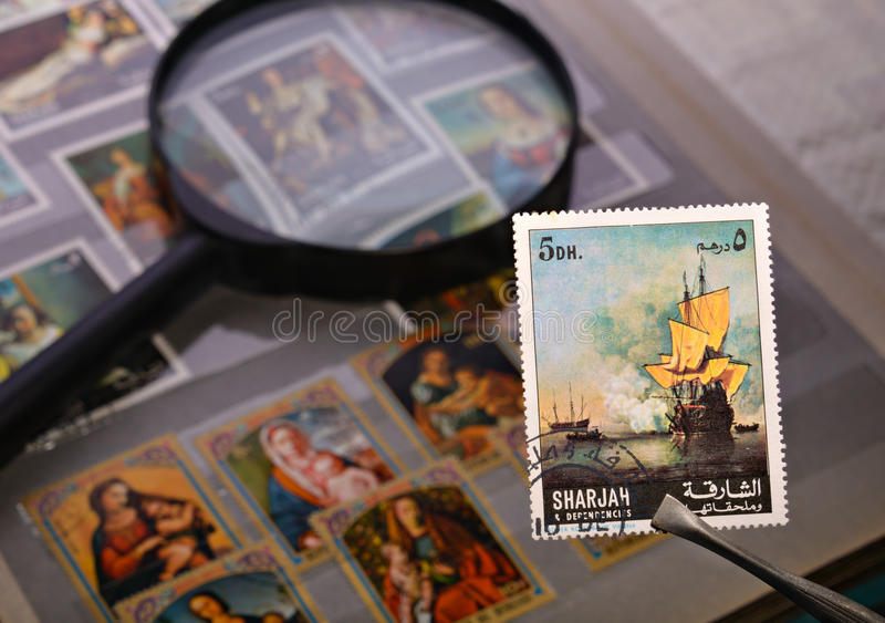 Download Old postage stamp stock image. Image of diversity, magnifying - 26758937