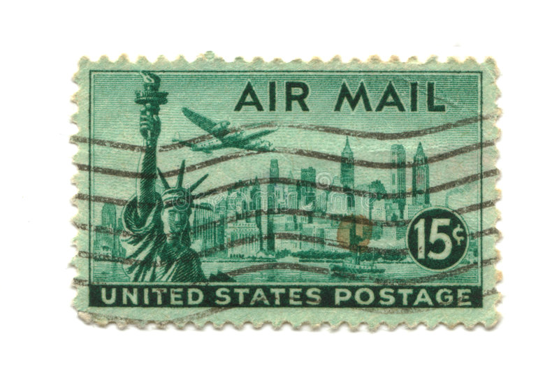 Old postage stamp from USA 15 cents royalty free stock image