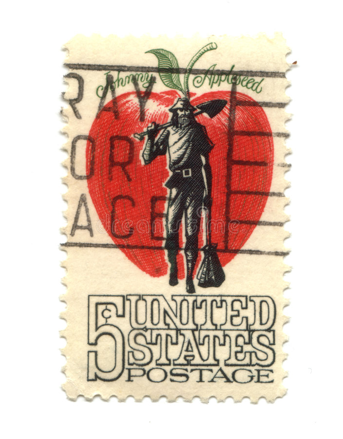 Old Postage Stamp From USA Five Cents Stock Images