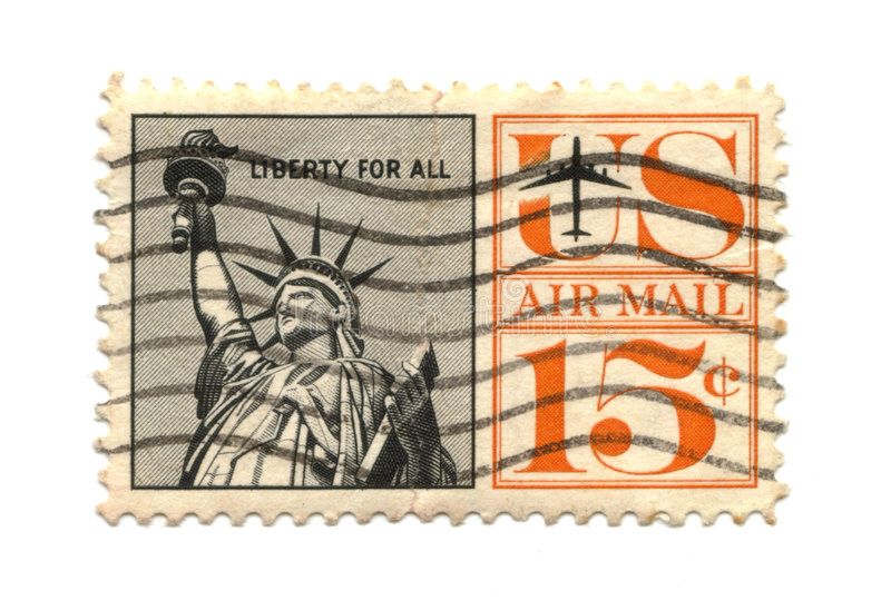 Old postage stamp from USA Liberty royalty free stock photos