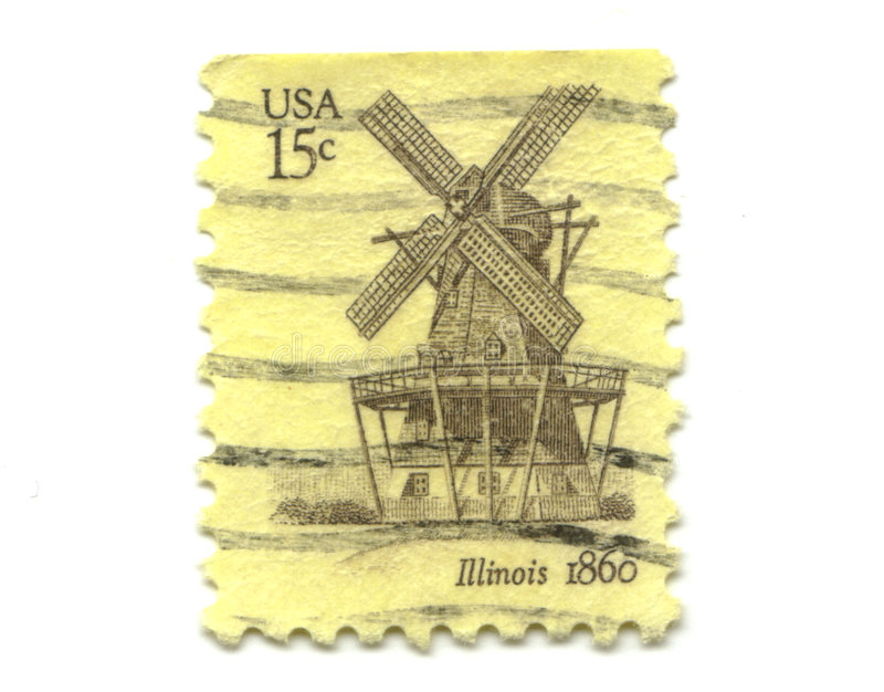 Old postage stamps from USA 15 cents stock photography