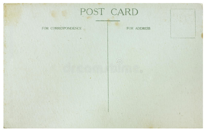 Download Old Postcard stock photo. Image of plain, post, backdrop - 20291418