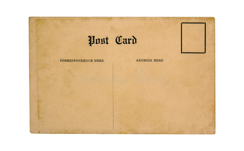 Old Postcard royalty free stock photo