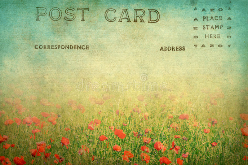 Old Postcard Royalty Free Stock Photography