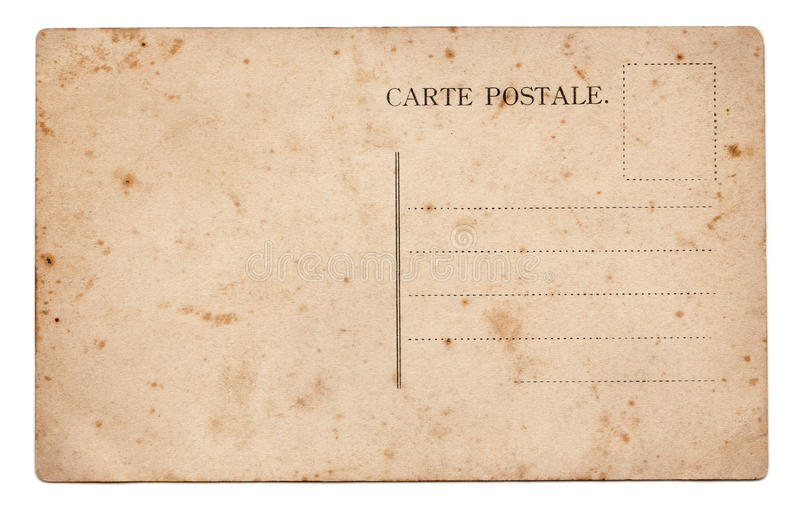 Old postcard royalty free stock images