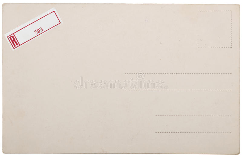 Download Old Postcard, Grunge Paper With Aging Marks Stock Photo - Image: 15538622