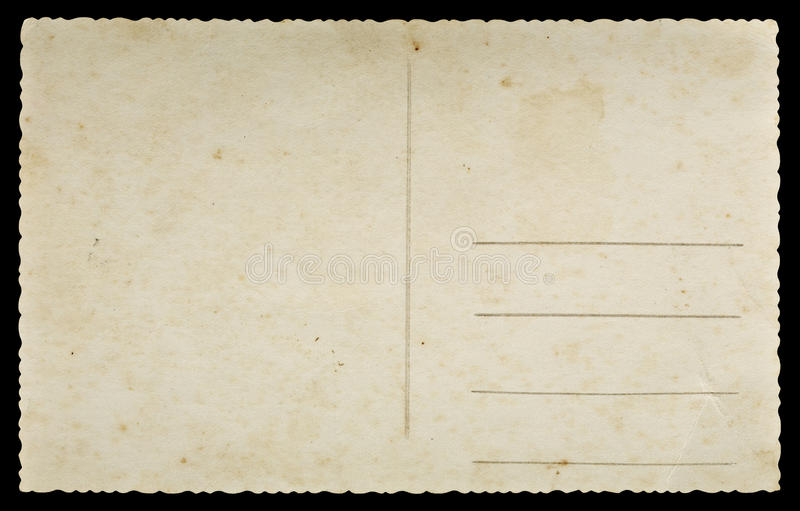 Old postcard royalty free stock image
