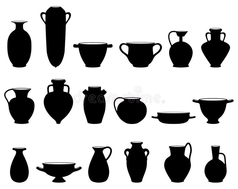 Old pottery vector illustration