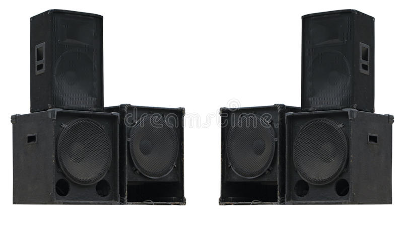 Download Old Powerful Stage Concerto Audio Speakers Isolated Stock Image - Image: 28923795