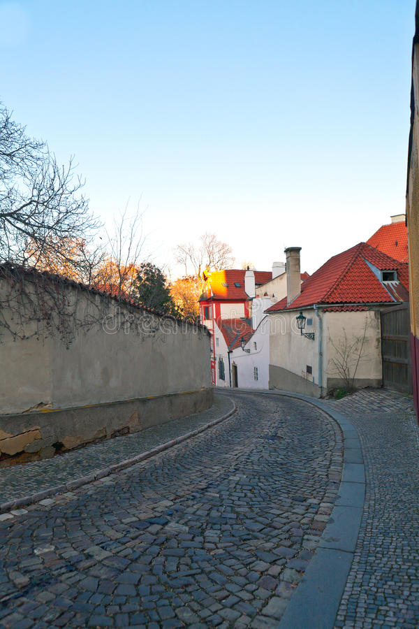 Old Prague street stock photos