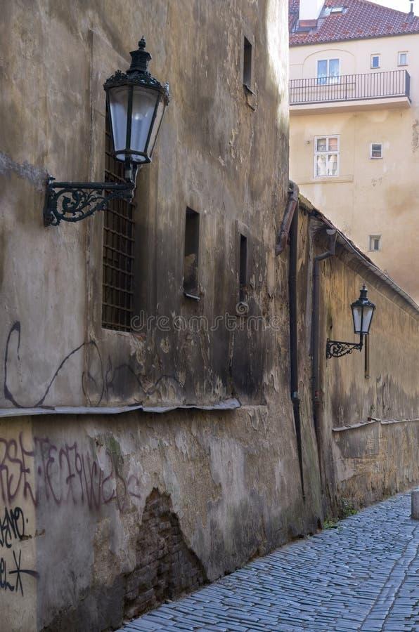 Old Prague street stock photography