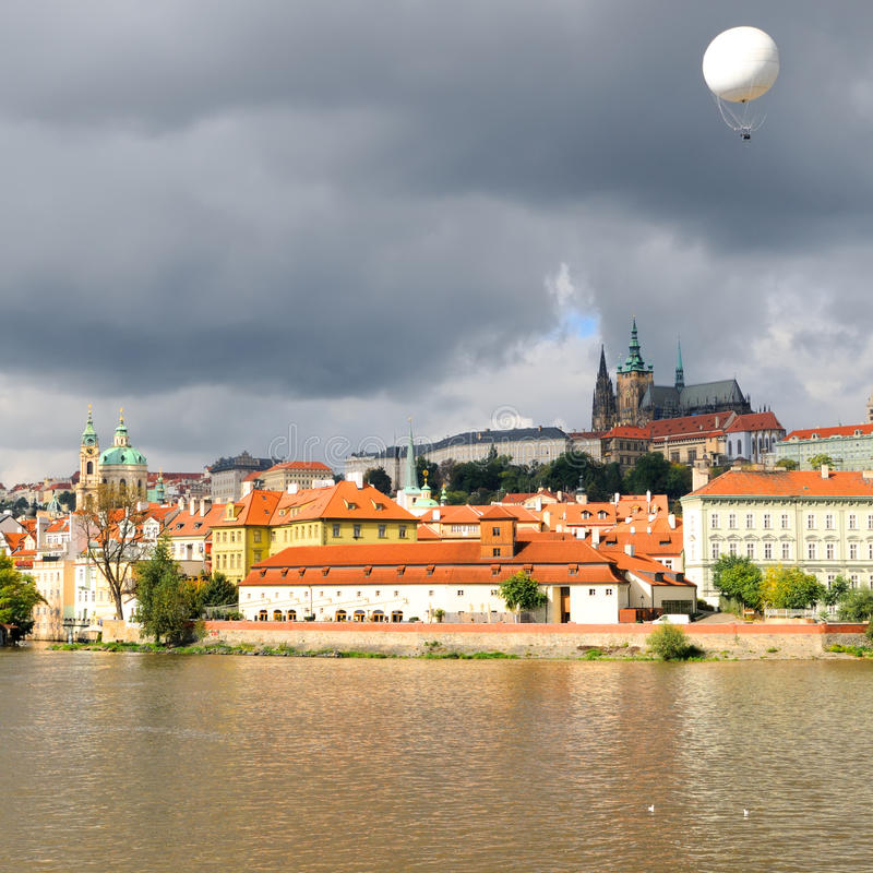 Download Old Prague, Vltava River Under Bright Autumn Sun Stock Image - Image: 18502067