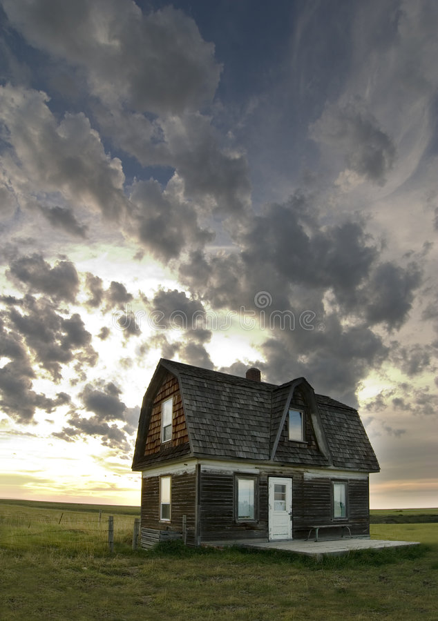 Old Prairie House royalty free stock photography