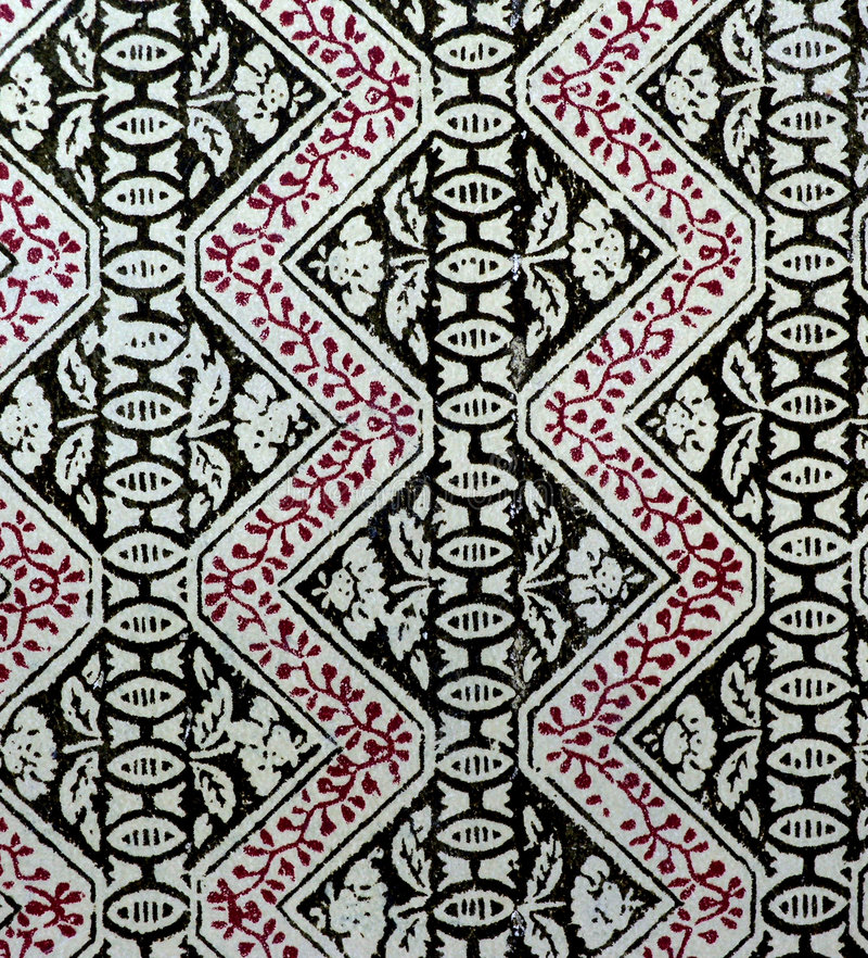 Old printed pattern royalty free stock photos