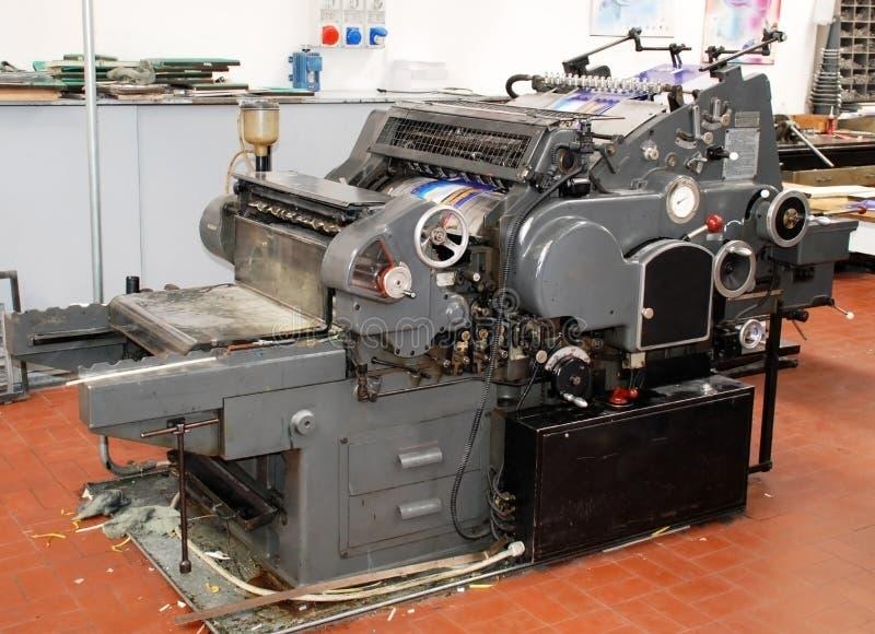 Old printing press stock photos