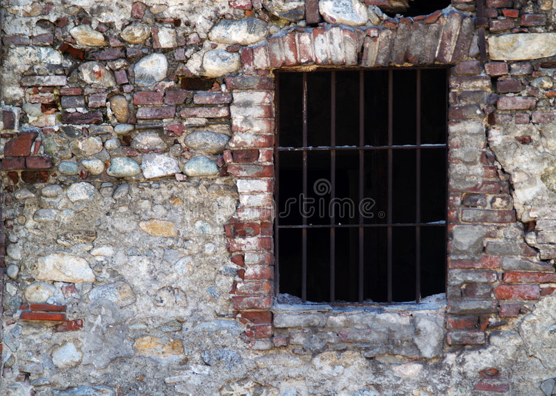 Old prison. A window of an old prison royalty free stock photography