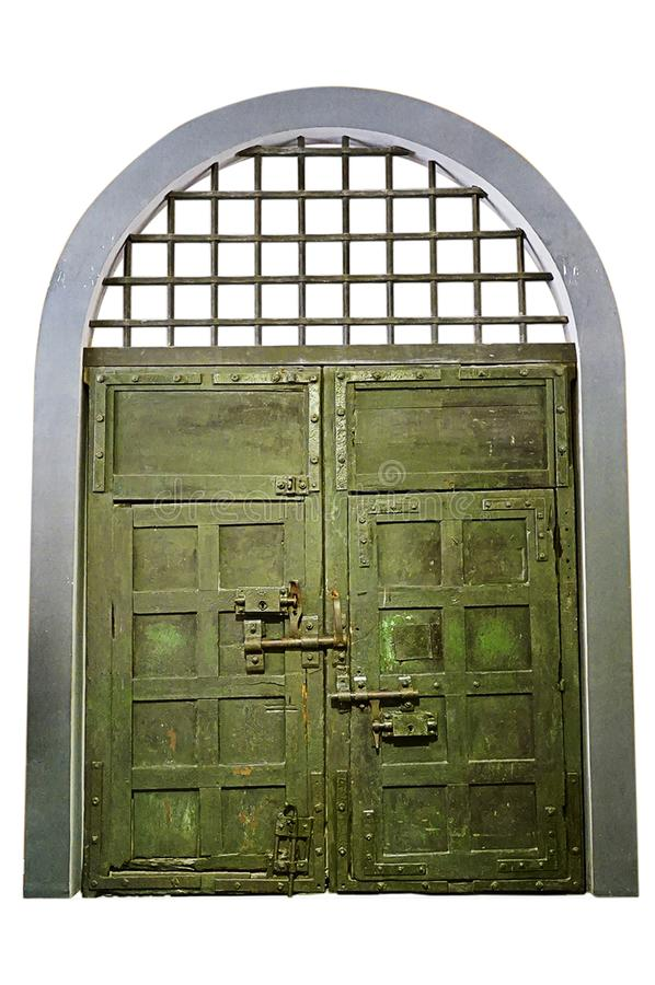 Old Prison door, isolated stock image