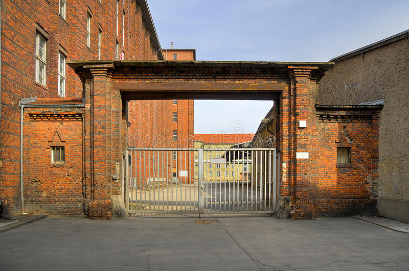 Old prison gate stock photography