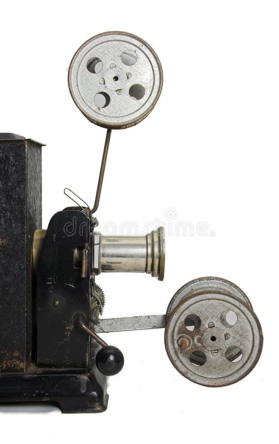Old projector side-face stock photography