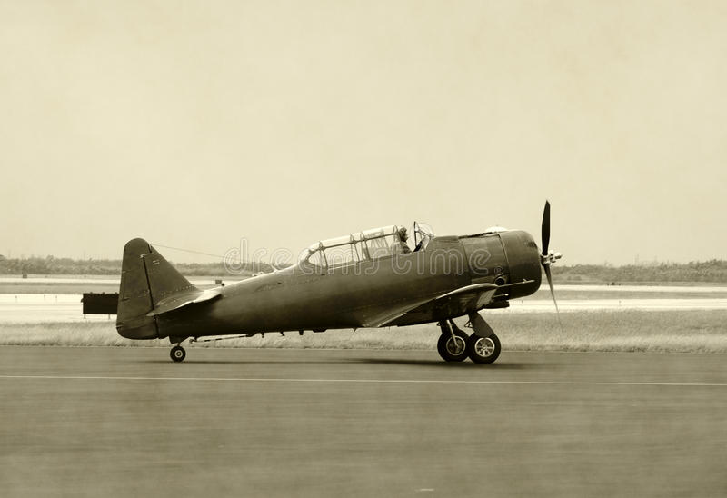Old propeller airplane stock photos